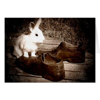 Der Vatertags-Karte Kaninchen- Mitteilungskarte