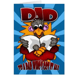 Der Vatertags-Karte - lustiger Cartoon