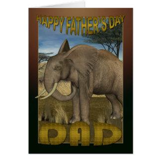 Der Vatertags-Karte mit Elefanten