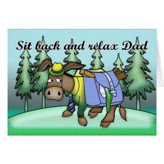 Der Vatertags-Karte mit Esel