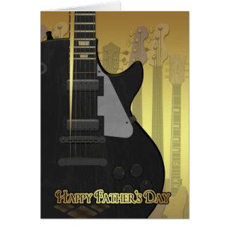 Der Vatertags-Karte mit Gitarre
