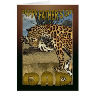 Der Vatertags-Karte mit Leoparden