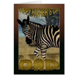 Der Vatertags-Karte mit Zebra