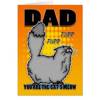 Der Vatertags-Karte - niedliche Katze
