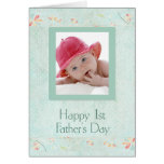 Der Vatertags-Karte Red Hat-Babys erste