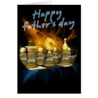Der Vatertags-Karte - Schach