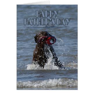 Der Vatertags-Karte - Schokolade Labrador