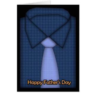 Der Vatertags-Karte - Shirt und Krawatte