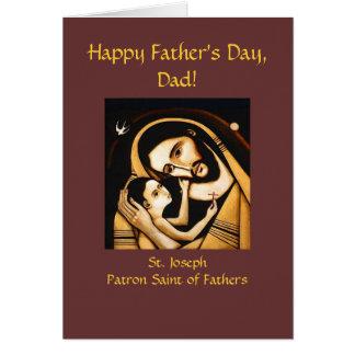 Der Vatertags-Karte St Joseph glückliche Grußkarte