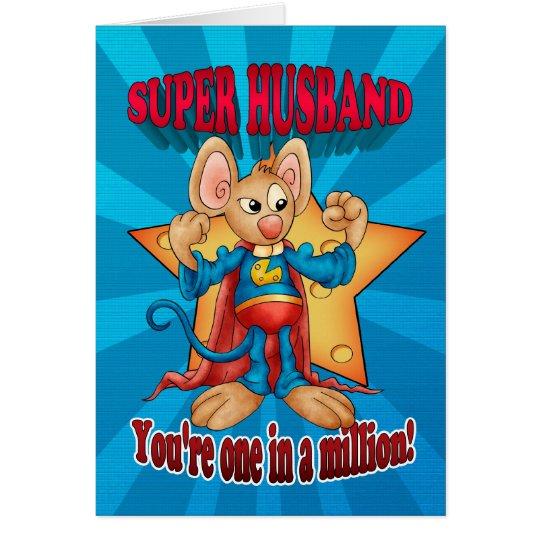 Der Vatertags-Karte - Superehemann-Maus - eine in Grußkarte
