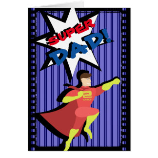 Der Vatertags-Karte Superheld- Grußkarte