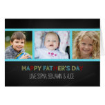Der Vatertags-Karte Tafel-Foto-glückliche