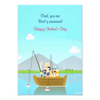 Der Vatertags-Karte Vater-und Sohn-Fischen- 12,7 X 17,8 Cm Einladungskarte