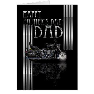 Der Vatertags-Karte Vati-mit Motorrad
