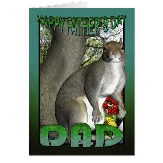 Der Vatertags-Karten-Eichhörnchen