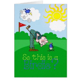 Der Vatertags-Karten-Golf-Piepmatz