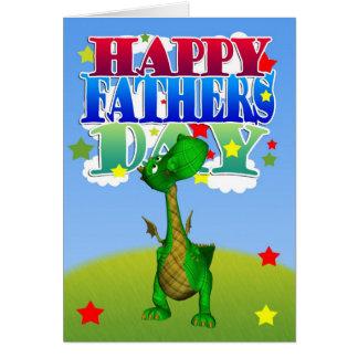 Der Vatertags-Karten-niedlicher Drache