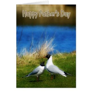 Der Vatertags-Karten-schwarzköpfige Möven