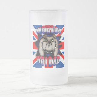 Der Vatertags-Karten-Vati mit britischer Bulldogg Kaffee Haferl