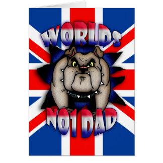 Der Vatertags-Karten-Vati, mit britischer Grußkarte
