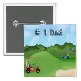 Der Vatertags-Knopf Golf spielendes Anstecknadelbutton