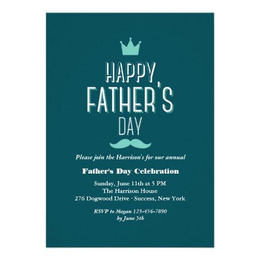 Der Vatertags-Kronen-Einladung
