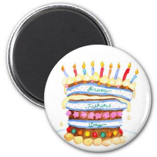 Der Vatertags-Kuchen-Magnet Runder Magnet 5,1 Cm