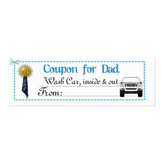 Der Vatertags-Kupon Visitenkarte