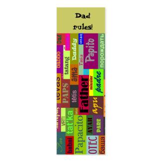 Der Vatertags-Lesezeichen Jumbo-Visitenkarten
