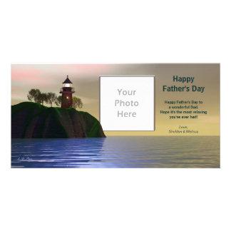 Der Vatertags-Leuchtturm Fotokartenvorlage