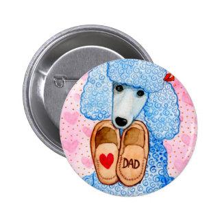 Der Vatertags-Liebe-Vati-Pudel-Verwöhnen Runder Button 5,1 Cm