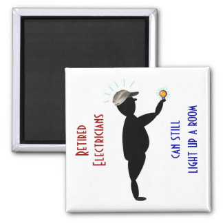 Der Vatertags-Magnet: Pensionierte Elektriker - Quadratischer Magnet