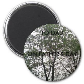 Der Vatertags-Magnet Runder Magnet 5,1 Cm