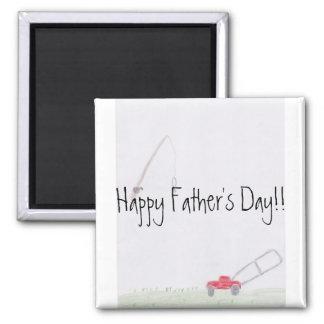 Der Vatertags-Magnet Vati-Redewendungens-… Quadratischer Magnet