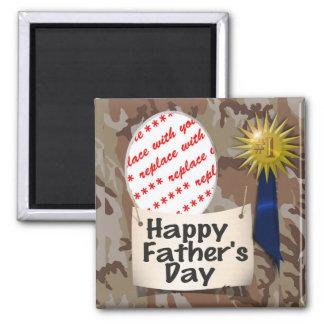 Der Vatertags-Memento-Rahmen Quadratischer Magnet