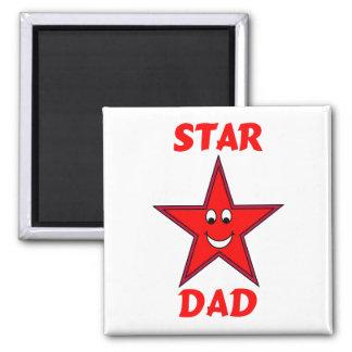Der Vatertags-niedlicher roter Stern-Vati Kühlschrankmagnete