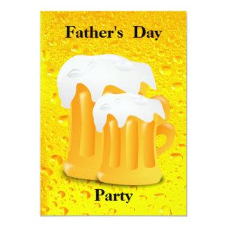 Der Vatertags-Party Bier-Tassen- 12,7 X 17,8 Cm Einladungskarte