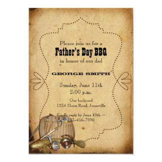 Der Vatertags-Party Einladung gegangenes fischen