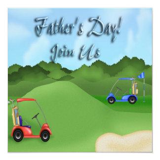 Der Vatertags-Party Einladungen Golf spielendes Quadratische 13,3 Cm Einladungskarte