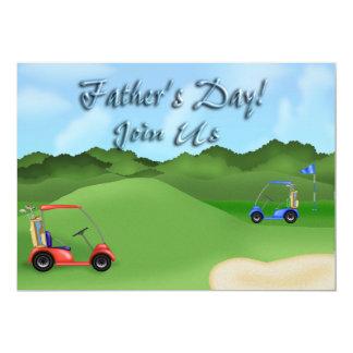Der Vatertags-Party Einladungen Golf spielendes
