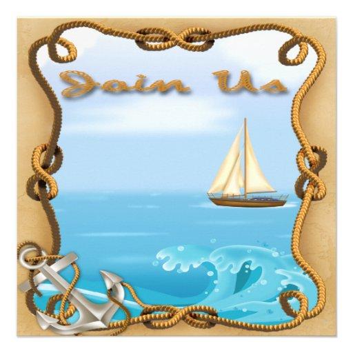Der Vatertags-Party Einladungen Segelboot-