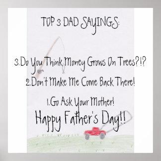 Der Vatertags-Plakat Vati-Redewendungens-… Poster
