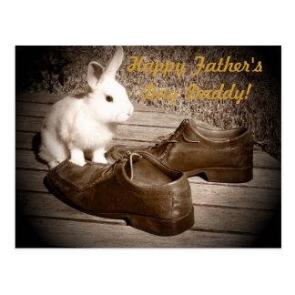 Der Vatertags-Postkarte Häschen-und Schuh-