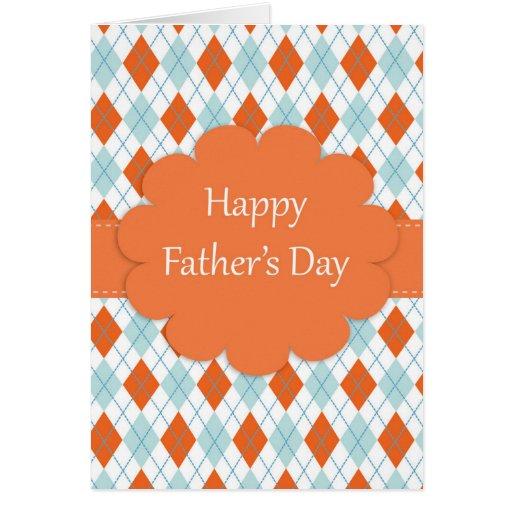 Der Vatertags-Rauten-Muster Grußkarten