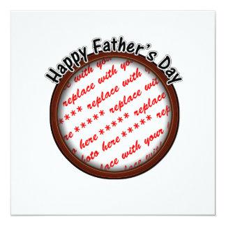 Der Vatertags-runder Brown-Foto-Rahmen Einladungskarte