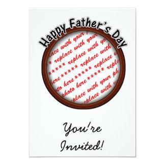 Der Vatertags-runder Brown-Foto-Rahmen Personalisierte Einladungskarten