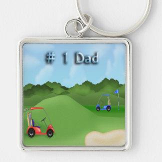 Der Vatertags-Schlüsselkette Golf spielendes Schlüsselband