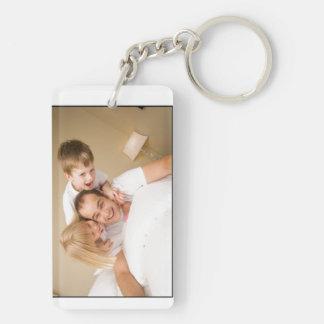 Der Vatertags-Schlüsselkette kundengebundenes Beidseitiger Rechteckiger Acryl Schlüsselanhänger