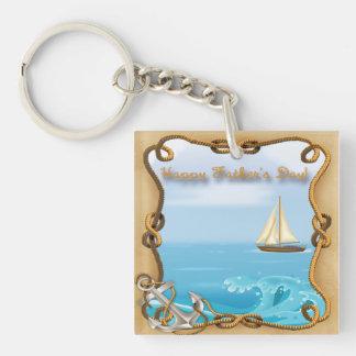 Der Vatertags-Schlüsselkette Segelboot- Schlüsselanhängern