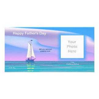 Der Vatertags-Segel weg Photokartenvorlage